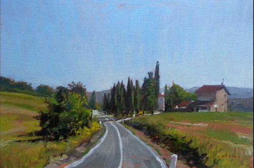 Near Anghiari oil on panel 20x30cm