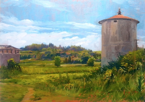 Silo oil on panel 25x35cm